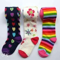 Cute 3pack Printed baby stockings (0-24 months)