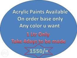 Acrylic paints (Order Base) 1Ltr Only