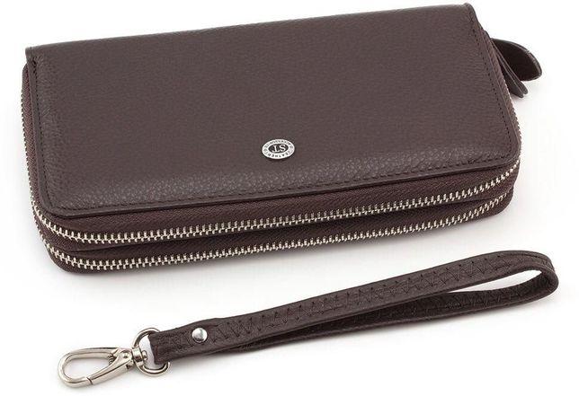 5c7b49d90c97 Женские Кожаный вместительный кошелек и клатч на две молнии ST Leather Киев  - изображение 1