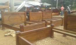 Mahogany hard wood beds