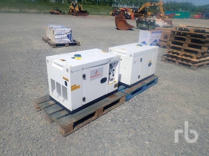 QTY OF 2 Diesel Silent Generator Sets