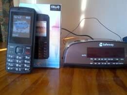 Cell phone & Clock radio with free video