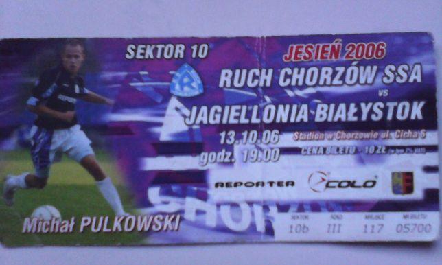 d4961732a bilet Ruch Chorzów Jagiellonia Białystok 13.10.2006 Kielce - image 1