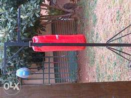 Boxing bag stand and bag plus speed ball