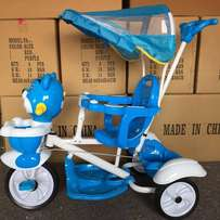 Brand New Kids Tricycle with Umbrella and Guardian Push-Handle