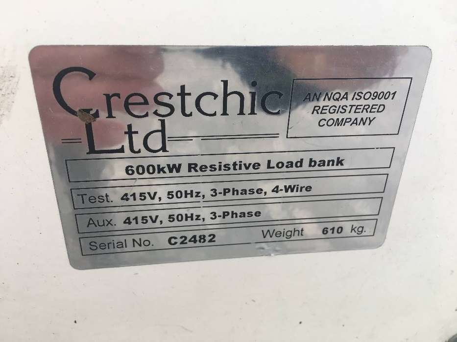 Crestchic 600kW Resistive Load bank - DPX-11766 - 1999 - image 4