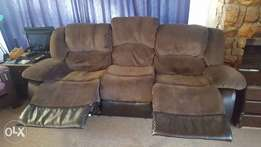 3 seater material Recliner couch