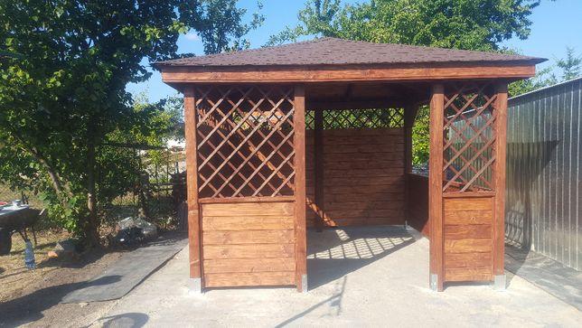 Altanka Altana Ogrodowa Wiata Drewniana Montaż Gratis 4x3