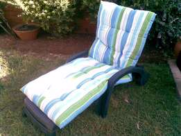 2x Swimpool chairs with cushions for sale
