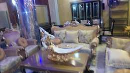 Royal Fabric sofa chairs by 7seaters with center table set