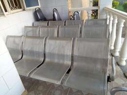 Four sweater waiting chairs in good condition