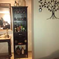 Tall Wooden Wine Cabinet