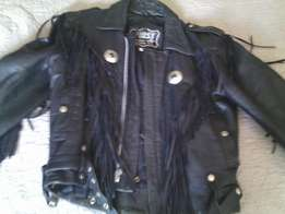 Biker Jacket Black in thick high quality Leather in mint condition