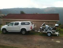 Falcon Self Loading Motorcyle Trailer
