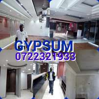 Gypsum installation