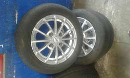 4 x114 pcd rims and tyres