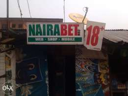 Nairabet shop and game center