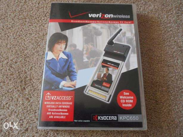 Kyocera KPC650 Verizon Wireless EVDO PC Card in box
