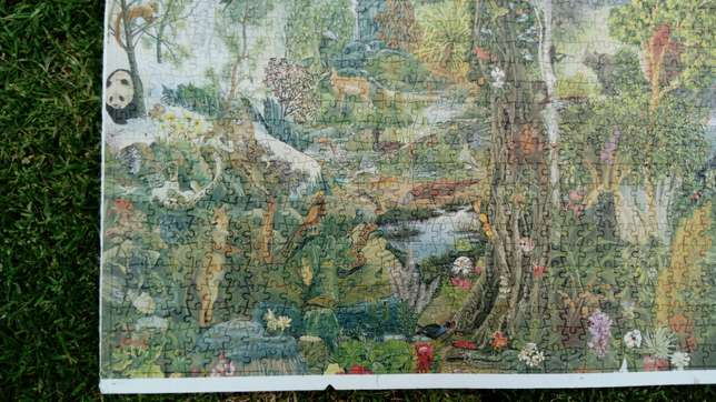 1500 piece completed nature/rainforest puzzle River Crescent - image 2