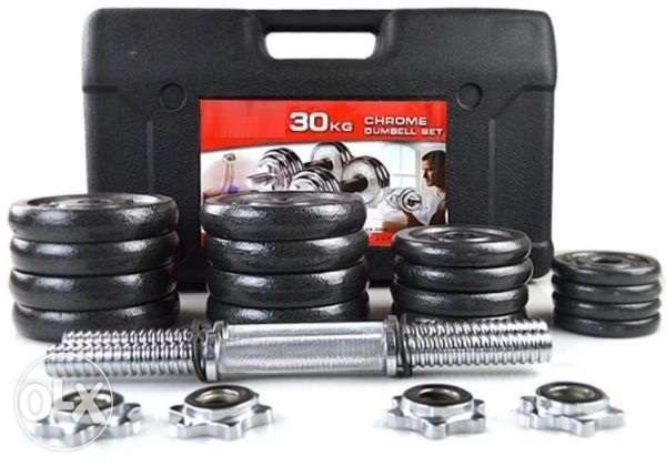 30Kg Dumbbell Set - 27 Rials - FREE Delivery