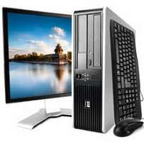complete hp desktop core 2 duo, 4gb,500gb+ 19 inches tft