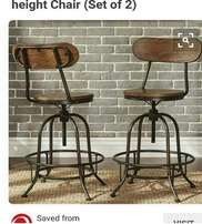Vintage style bar chairs with modern twist. Call House of Chairs today