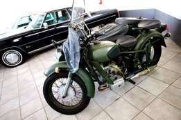 Ural M-63 ORIGINAL Russian Motercycle with Side Car