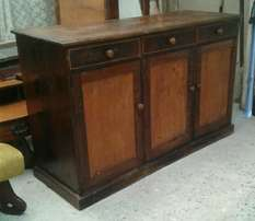 Vintage solid embuia and yellowwood sideboard cabinet
