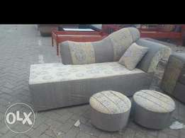 Sofa bed plus extra 2 round foot rest