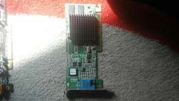 Graphics card. Very rare for DDR 1 board. Working perfect