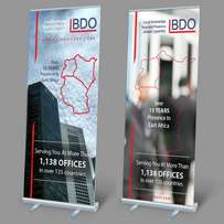 Pull up banner design and print
