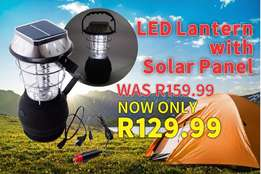 Solar Lantern with USB and Solar Panel