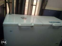Double compartment deep freezer with two years warranty