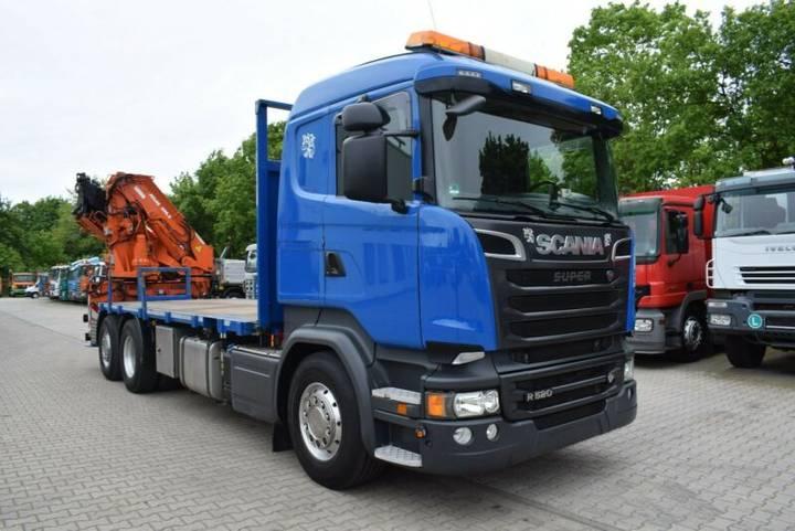 Scania R520 Pritsche m. ATLAS 390/ 5xhydr. Cont-Verieg - 2015