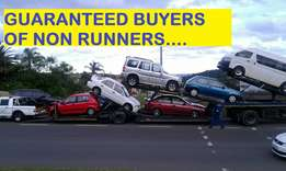 We purchase non running vehicles as is,cash buyers !!!