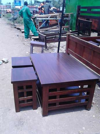Coffee table and 4stools Karen - image 1