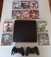 PS3 2 Remotes, 10 Games. Excellent Condition