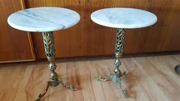 2x Marble Tables