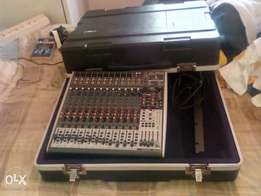 Behringer 16 channel mixing desk and gator case for SALE