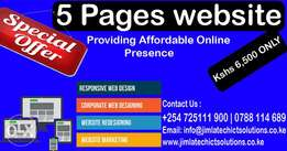 UNBEATABLE OFFER on Website and Blog Development