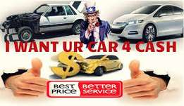 I want u r car 4 cash
