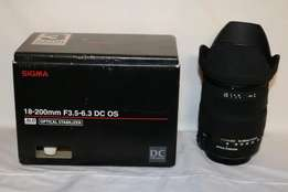 Sigma 18-200mm Optical Stabilised lens (Canon fit) R2100 Neg
