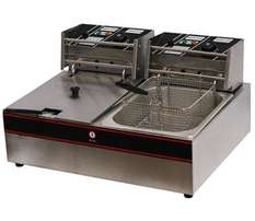 Double Electric Fryer 2x6lt Including Baskets