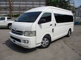 Toyota hiace 9l manual petrol, 18seats, finance terms accepted