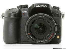 Panasonic Lumix GH3 with accessories