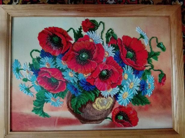 Архів  Картина бісером «Букет квітів»  3 000 грн. - Живопис Коростишів на  Olx eb08dd9d2270d
