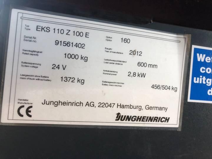 Jungheinrich EKS 110 L 100 E Pallettruck - image 12