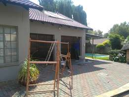 Paving ,painting and swimming pool