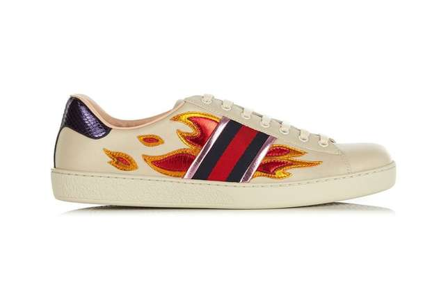 Gucci Ace Sneakers With Flames -Men Lagos Mainland - image 2
