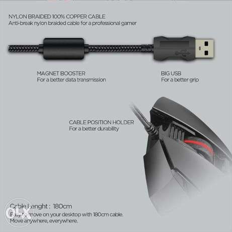 Fantech X11 DAREDEVIL Gaming Mouse دكوانة -  6
